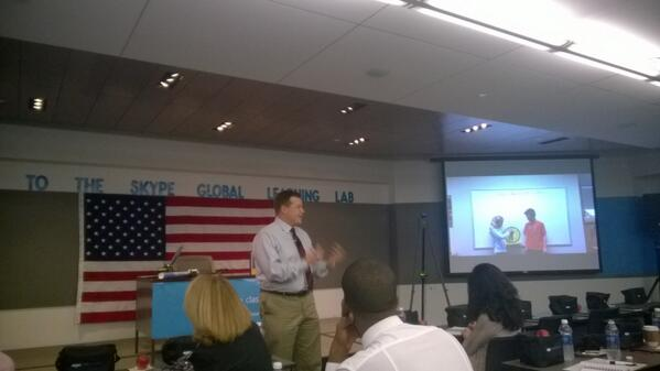 Learning from @msoskil at #SkypeLab about how @SkypeClassroom benefits his students. #YouthSpark http://t.co/VFNSdzqBIc