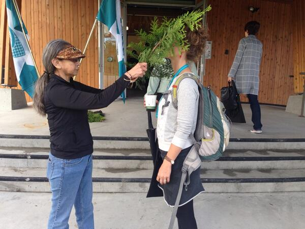 @marli_k being blessed and welcomed to @musqueam nation. Start of second day of #SIXVan14 @si_exchange http://t.co/fNJMJBS4Pw