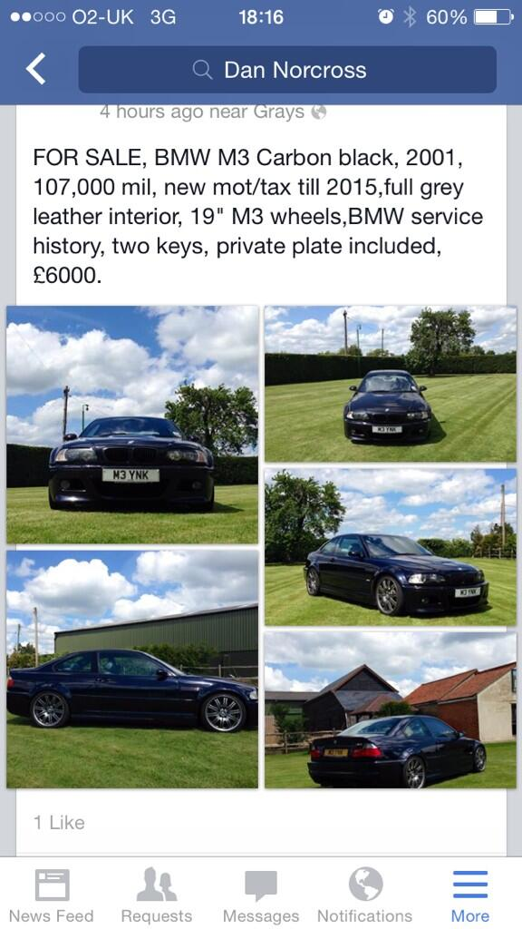 BMW M3 FOR SALE http://t.co/sJuxi10zGV