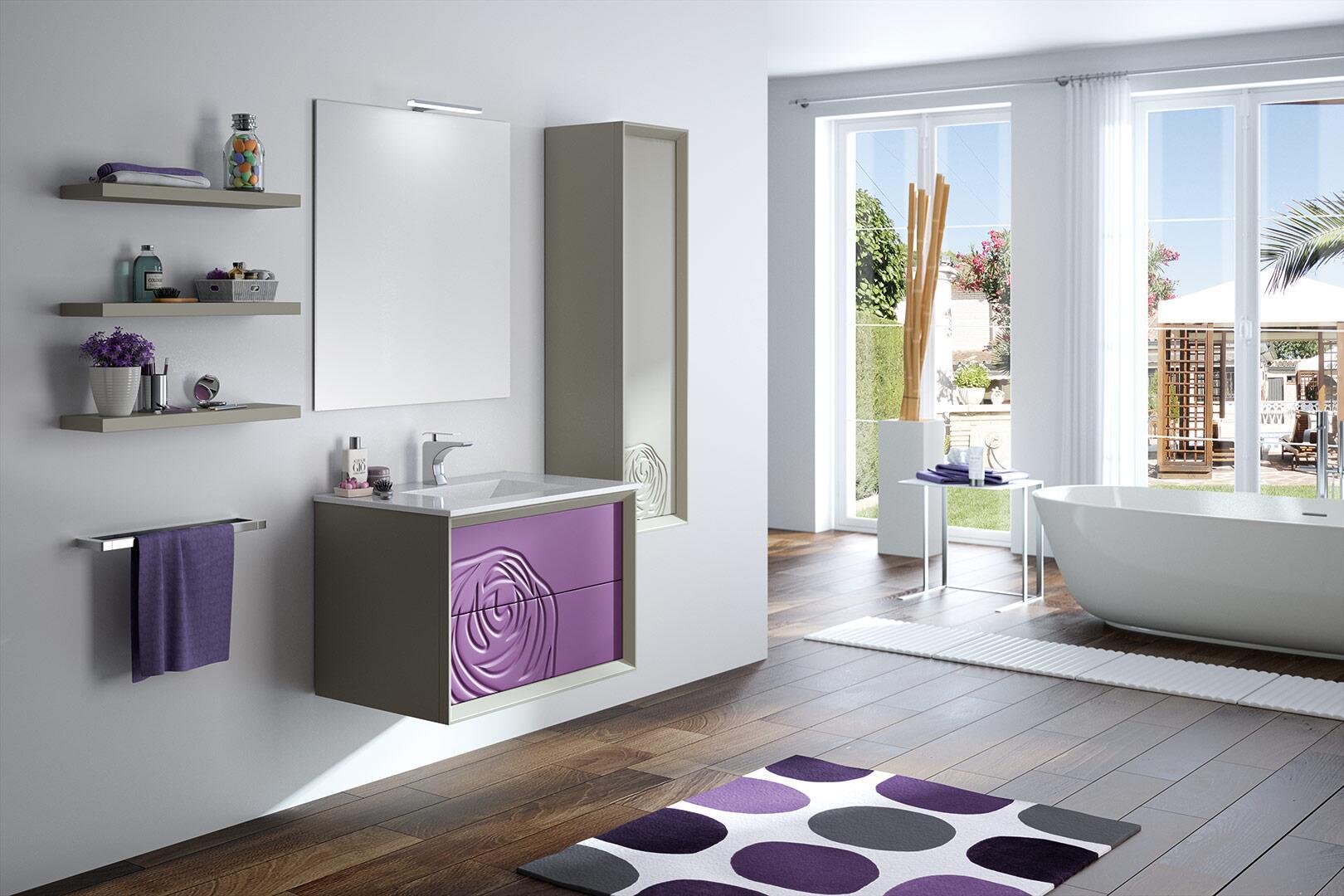 Accesorios baño color berenjena: salas en color violeta colores ...