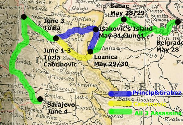 @BlackHandApis Da li znaš nekoga ko nas može prešvercati u Bosnu? Ja sam bio proteran iz Sarajeva 1912. @G_Princip19… http://t.co/sljCVHT7eW