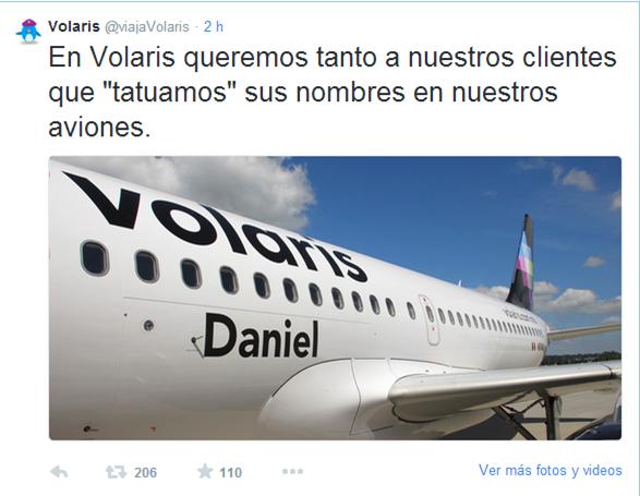 Un ejemplo de cuando una marca aprovecha una situación delicada a su favor. ¡1000 puntos para @viajaVolaris ! http://t.co/Akpo7pvK8e