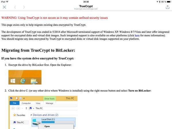 I'll repeat what others have said: What's up Truecrypt? Like... SRSLY? http://t.co/hPw8kSqZ2u