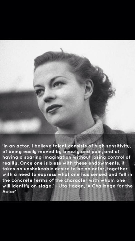Twitter / OlgaAssabgy: Thanks Uta Hagen #acting ...
