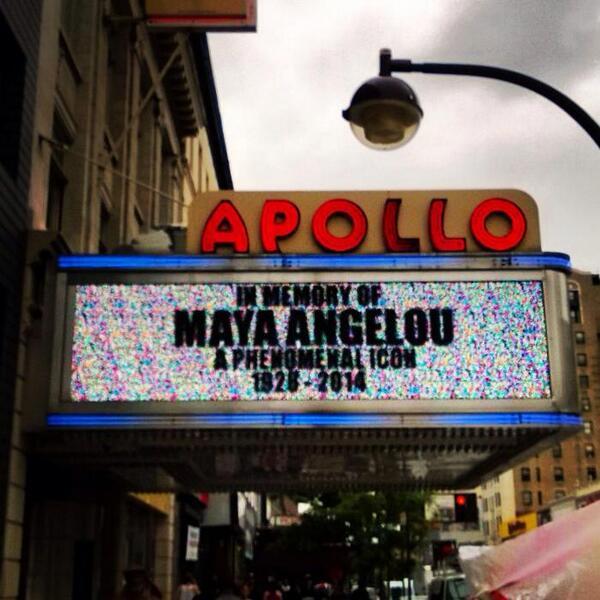 #MayaAngelou @ApolloTheater http://t.co/pJUSqRhTbm