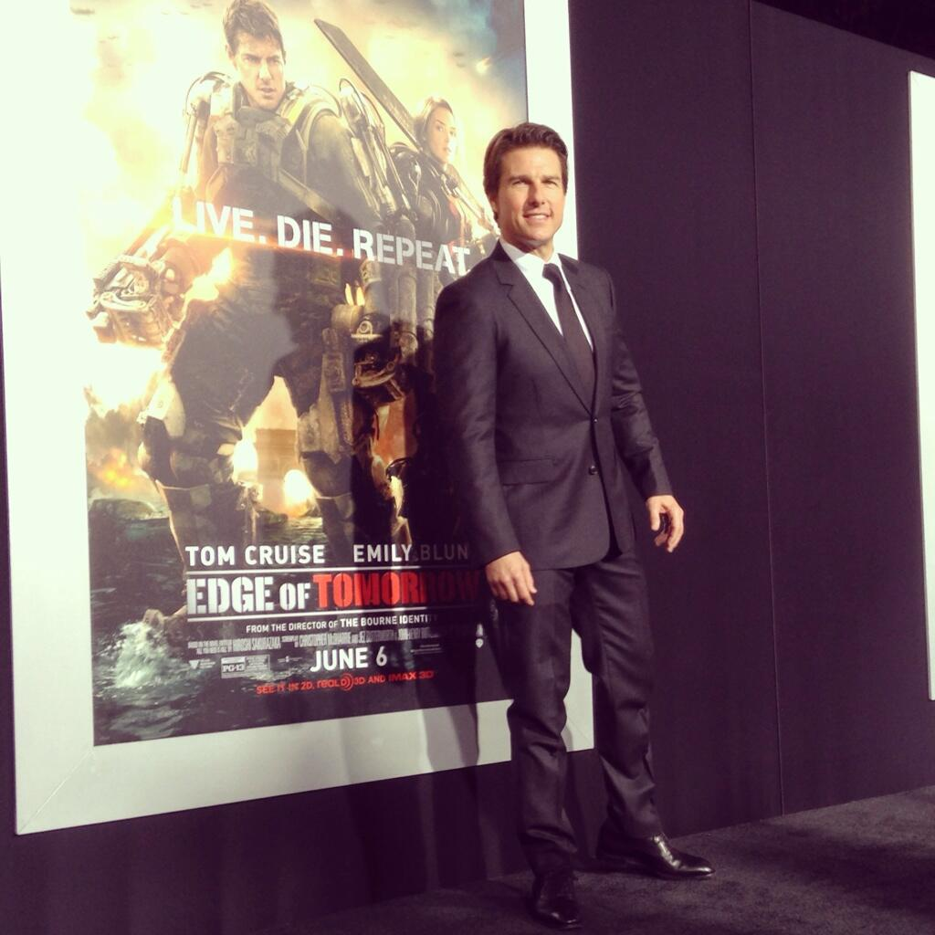 Twitter / EdgeofTomorrow: 3 for 3. @TomCruise has arrived ...