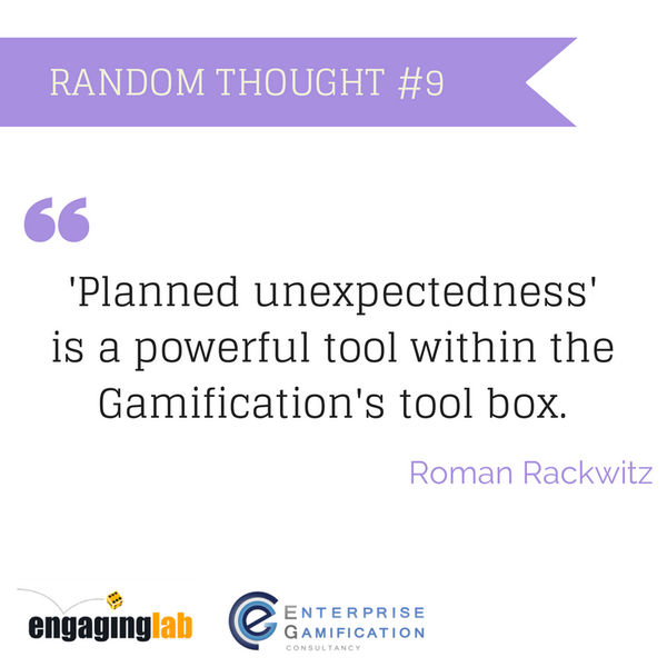 Random Thoughts around #Gamification #9. The desire to act immediately to tackle an...  http://t.co/Hw7r6WhU4j http://t.co/gSietkaGqp