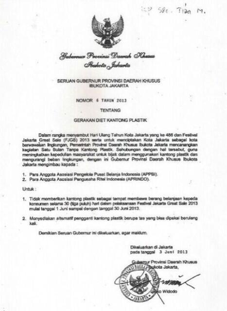 Contoh Surat Dukungan Gubernur