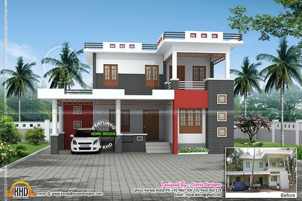 Kerala home on twitter renovation 3d model for an old Old home renovation in kerala