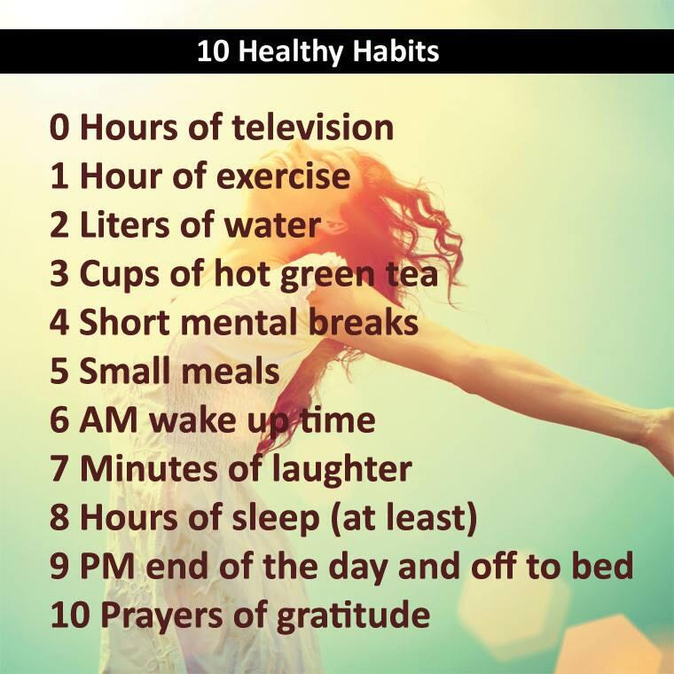 Twitter / JoyAndLife: 10 healthy habits . This one ...