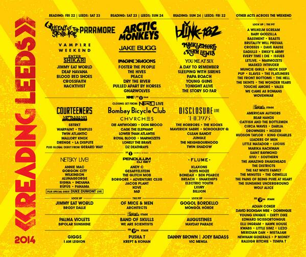 Leeds Festival 2014 | Lineup | Tickets | Prices | Dates | Video | News | Rumors | Mobile App | Hotels