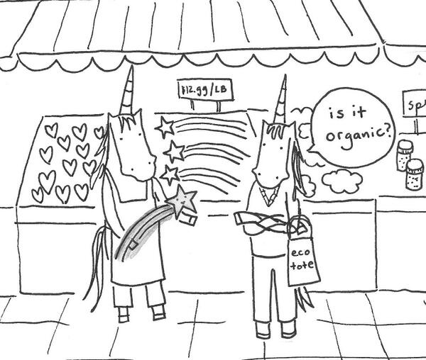 Another sketch: unicorn at the farmer's market. #Portlandia http://t.co/WBUnpZBJIH