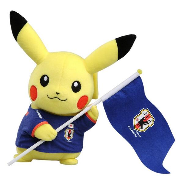 """Pikachu says, """"Gambare Nippon!"""" #WorldCup http://t.co/rssGDd8Yl9"""