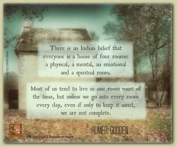 Twitter / JoyAndLife: Everyone is a house of 4 rooms: ...