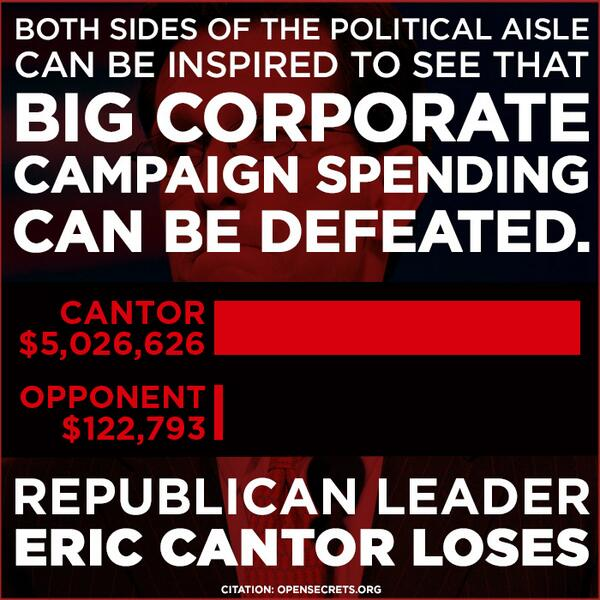 #Cantor loss shows big money can be defeated! Now defeat House Repubs in Nov http://t.co/McNbsxVPxb #VA07 #UniteBlue http://t.co/MIv3d8W7nD