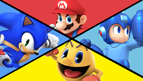 An #e3 fact: The match between Mario, Sonic, Mega Man and Pac-man represents 117 years of video game history #e32014 http://t.co/EYxdo9CvXo