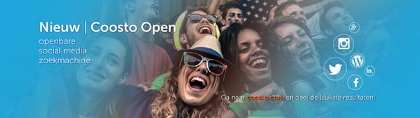 Vanochtend hebben we de openbare #socialmedia zoekmachine #CoostoOpen gelanceerd! Check http://t.co/GlZ6Zs7wUX! http://t.co/nUT6Kad0O5