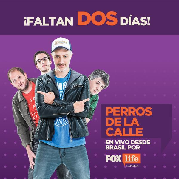 ¡Faltan 2 días! #PerrosPorFoxLife, en vivo desde Brasil. Estreno viernes 13, 11 AM. http://t.co/oKOgkpu2rb