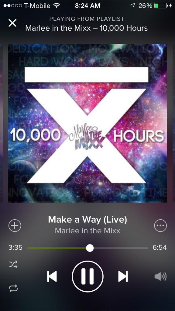 Thank goodness @MarleeInTheMixx is on spotify!