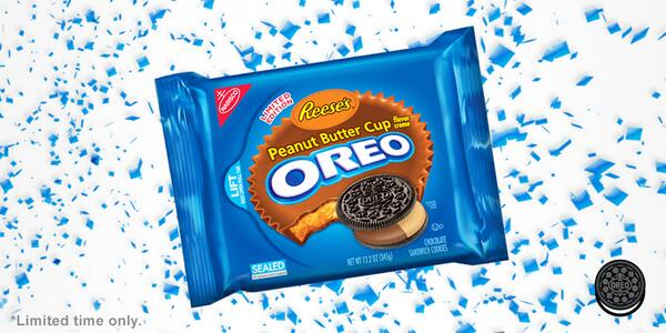 You dreamed, we delivered. @REESESPBCups Peanut Butter Cup Oreo cookies, available now for a limited time. http://t.co/hCisXQWLlc