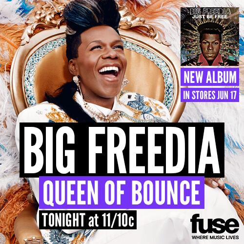 It goes down tonight y'all!!! Season 2 of Big Freedia Queen of Bounce premieres tonight on FUSE!!!  #justbefree http://t.co/e8sauCEoNP