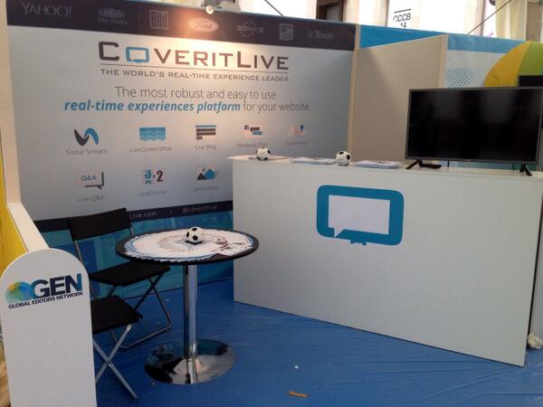 Expo booth complete! Come by and say hi to us at #GENSummit 2014 http://t.co/XJtwEylozz