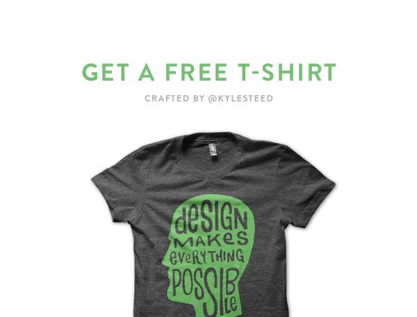 Get free t shirts