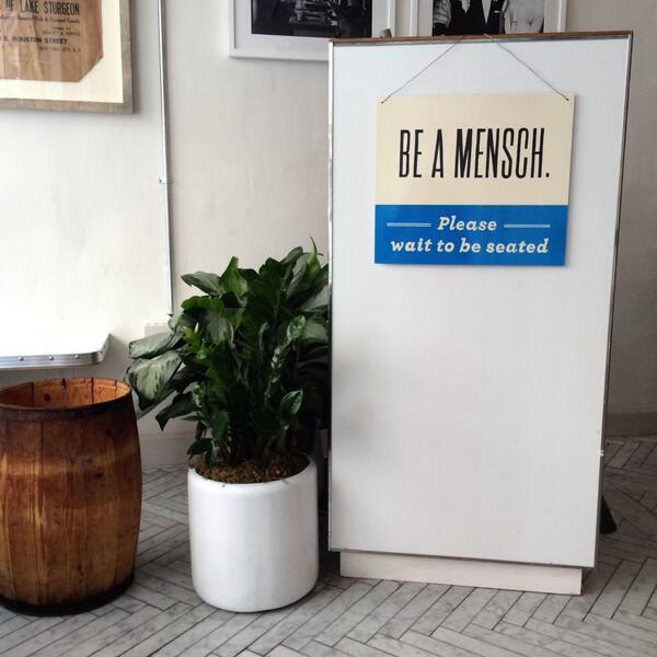 Russ Daughters On Twitter Be A Mensch Please Wait To Be Seated