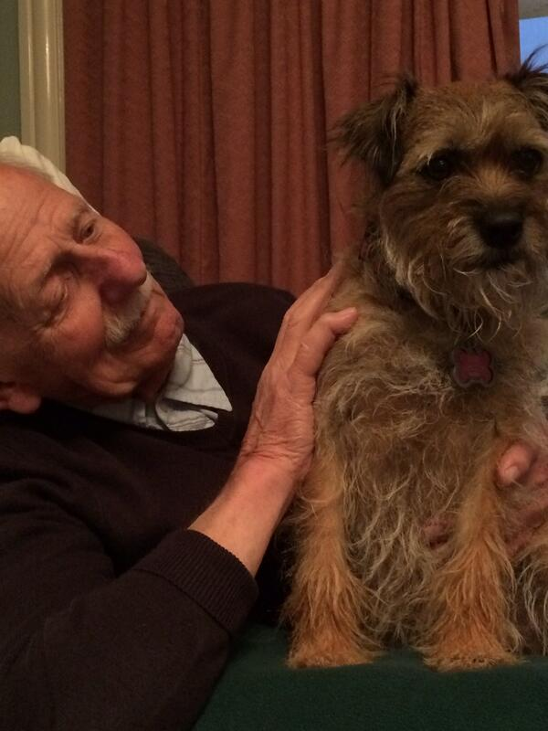 Dementia isn't always miserable - my Dad and his dog Dolly, true love, brilliant. http://t.co/4B7llvFQkL