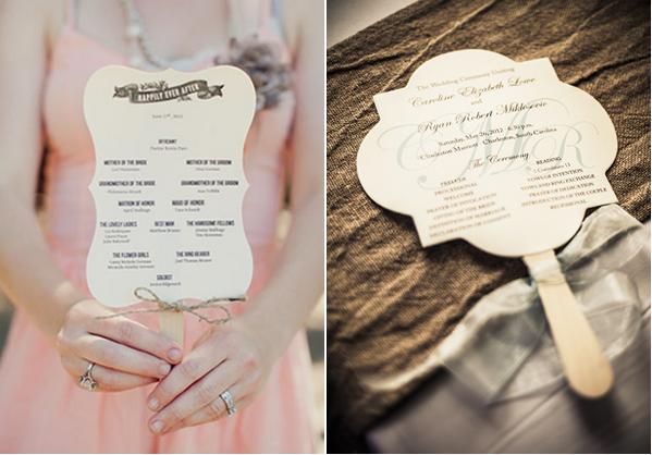 Wedding Ceremony Program Fan Ideas - The Best Flowers Ideas