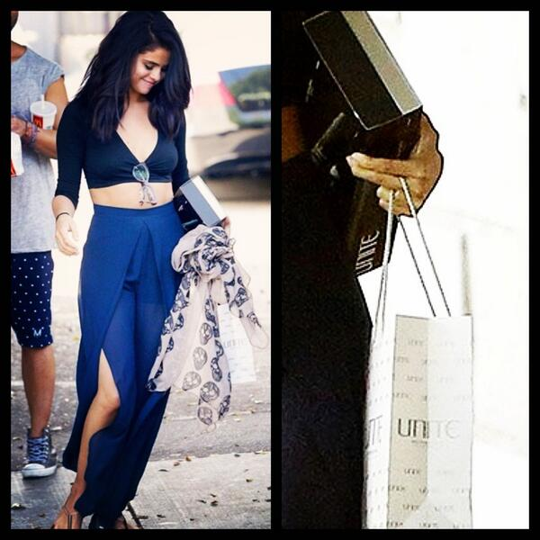 What does #SelenaGomez use to style her hair? See for yourself! @NineZeroOne color- @marissamarino cut @RiawnaCapri http://t.co/R2NLkQMunV