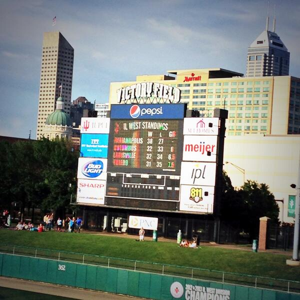 The sun decided to show up for the @indyindians after all. Play ball! #ISE14 http://t.co/ggE0jdTTD3