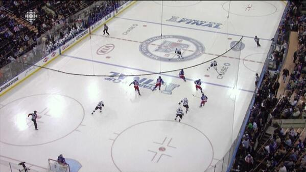 Rangers apparently consulted legendary coach Gordon Bombay before the game. #FlyingV http://t.co/67WQY9IDGh