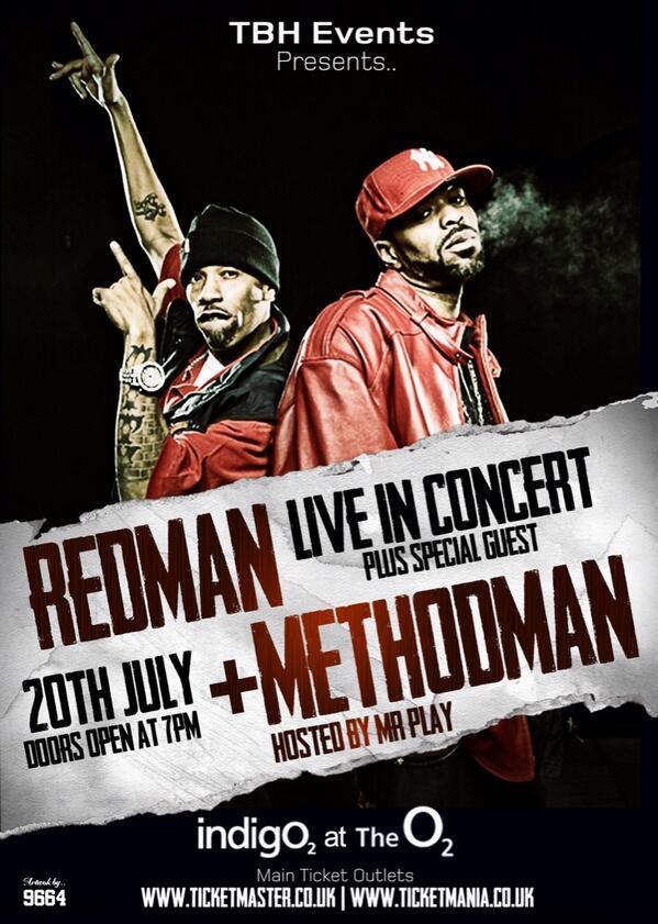 Catch @MrPlay DJ/Hosting    @methodman & @therealredman concert Sun 20th July @indigoatTheO2   http://t.co/IbhWGUhfDn http://t.co/CsrDRkqNiD