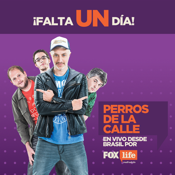 ¡Falta 1 día! #PerrosPorFoxLife, en vivo desde Brasil. Estreno viernes 13, 11 AM. http://t.co/yXL1teN1Oa
