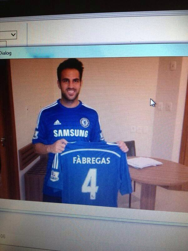 Photoshop or real? A new picture of Cesc Fabregas in a Chelsea shirt is leaked online