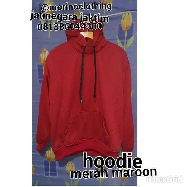 "morino kaos polos on Twitter: ""Ready stock hoodie merah maroon http://t.co/dGXQWKbOyL"""