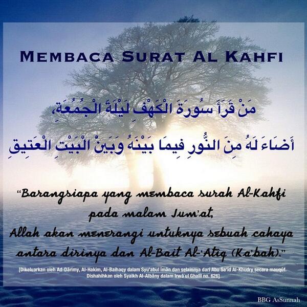 Nasehat Indah Islam On Twitter Malam Jum At Read Al Kahfi Http