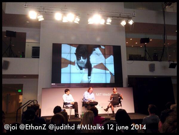#MLTalks: @joi, @EthanZ, & @judithd, shown w/judith's Best Editor: http://t.co/mcInU72Q3x