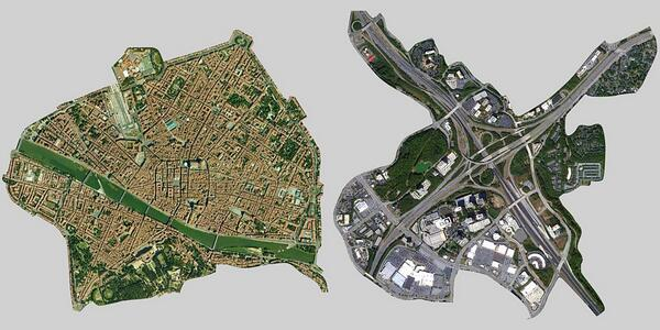 W.T.F. MT @TreeHugger: Florence Italy, and a hwy interchange in Atlanta, at same scale. http://t.co/y9ygX0XMUQ http://t.co/IASuHEftCd