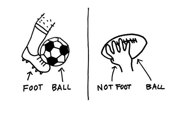 Foot-ball vs Not foot-ball http://t.co/X5HOuwqZlT