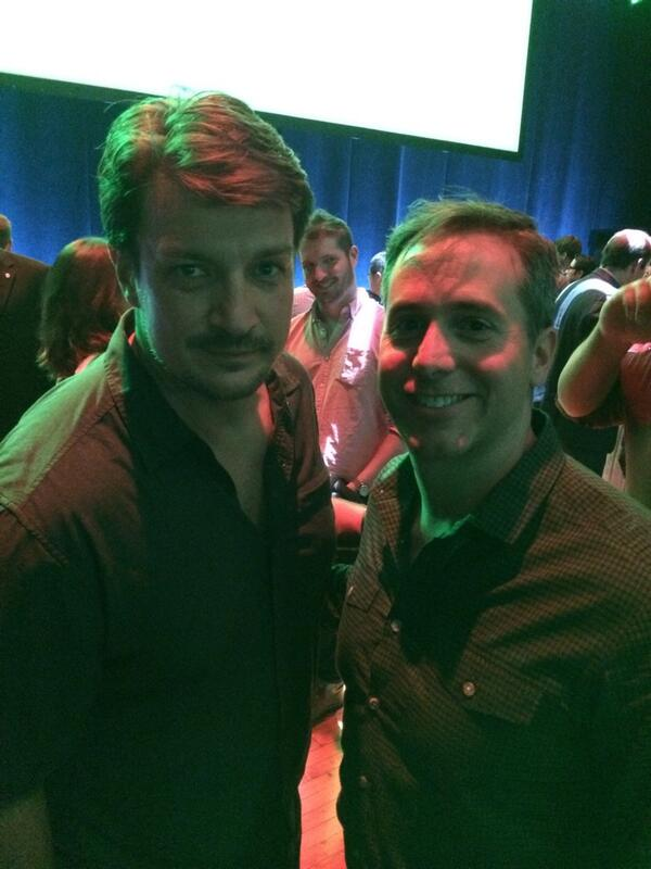 Two Halo fans hanging out. Thanks for coming by @NathanFillion http://t.co/CembiVdcUk