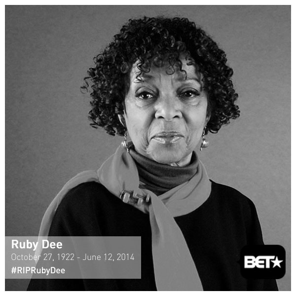 We lost a legendary actress and activist today.   #RIPRubyDee --> http://t.co/FRXSY4npij http://t.co/M6DtzdqHWk