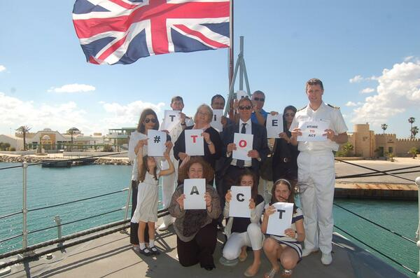 HMA Hamish Cowell & Lt Cmdr Mark Redmayne, the commanding officer of HMS Blyth, say it is #TimetoAct. @end_svc http://t.co/CoPBPyE0Ie