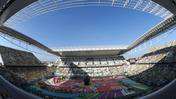 IT'S ALMOST HERE! The Opening Ceremony of Brazil 2014 is underway - http://t.co/sYFnIswCGi #WorldCup #BRACRO http://t.co/Onn0BihOee