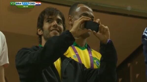 Here is the Instagram video Kaka took of the Neymar penalty versus Croatia