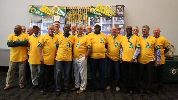 "Cool""@Athletics: The 1974 World Series champion #Athletics pregame, on-field reunion begins at 6:30pm. GreenCollar http://t.co/R7ldKCJuBS"""