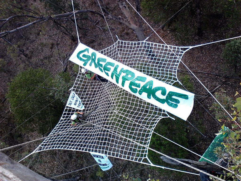Twitter / GreenpeaceAustP: Check out the 'spider web' ...