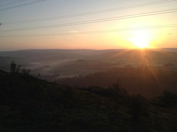 Sunrise over Saddleworth. I love my job