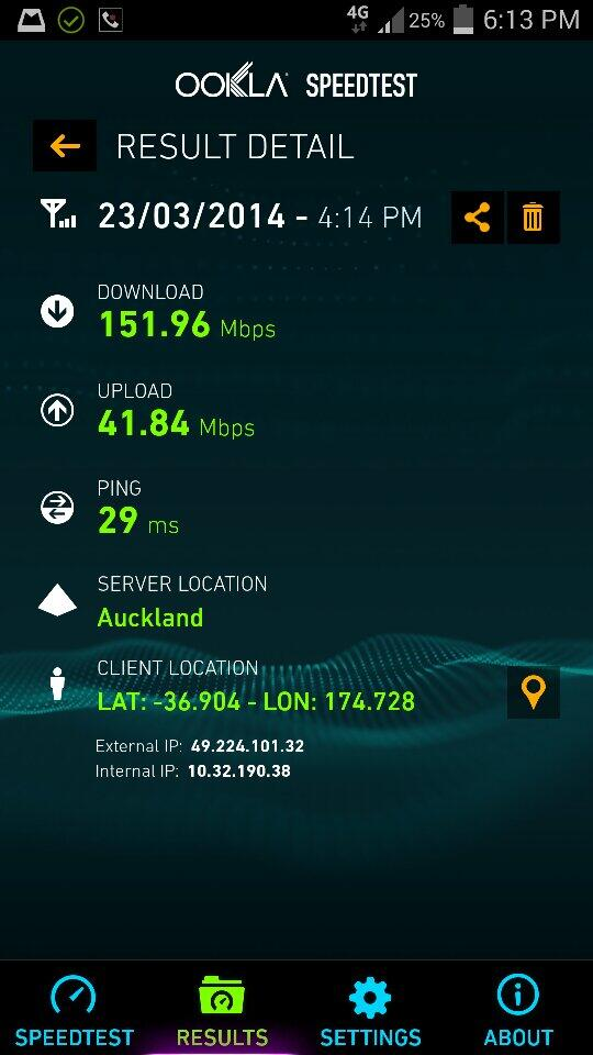 151Mbps speedtest